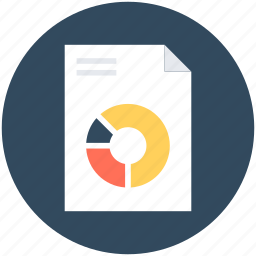 data page, graph report, pie chart, pie graph, report icon