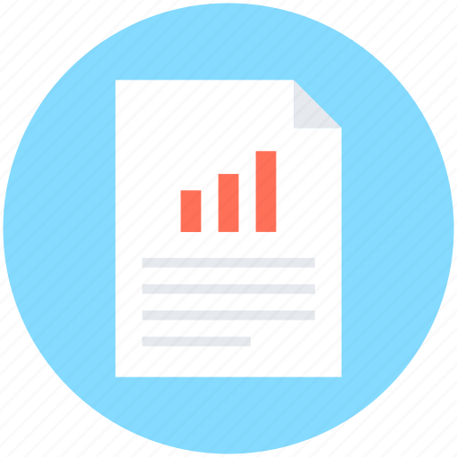 business analysis, business report, financial report, graph report, statistics icon