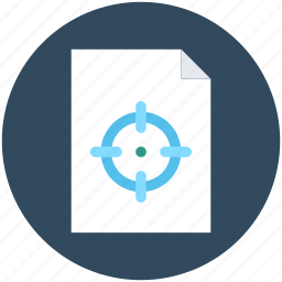 crosshair, marketing report, plan, report, target icon