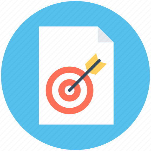 marketing report, objective, plan, report, target icon