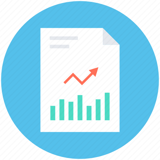 analytical report, analytics, bar graph, graph report, line graph icon