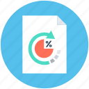 document, percentage, refresh, tax report, tax return icon