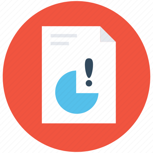document, error, file, graphic report, report icon
