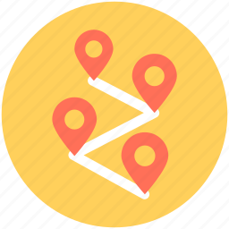 gps, location, location distance, map, navigation icon