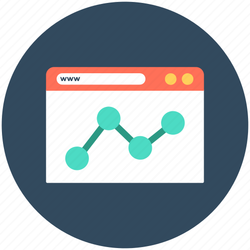 analytic, bar chart, infographic, online graph, web analytics icon