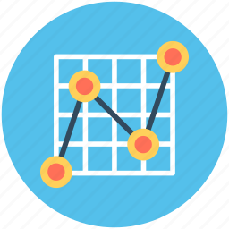 business chart, line graph, presentation, projection screen, statistics icon