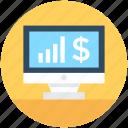 graph, monitor screen, online graph, online presentation, statistics