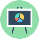 business chart, business presentation, graph board, presentation, statistics icon