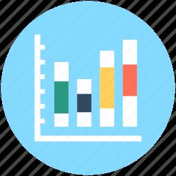 bar chart, bar graph, financial chart, statistics icon