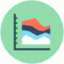 business chart, economics, graph chart, triangle pattern, zigzag chart icon