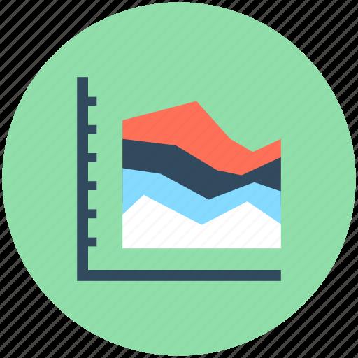 business chart, economics, graph chart, triangle pattern, zigzag chart icon