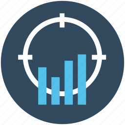 bar chart, business evaluation, financial chart, focus bar graph, statistics icon