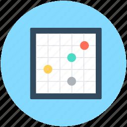 bubble chart, bubble plot, bubbles, financial chart, statistics icon