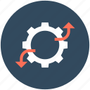cog, cogwheel, graph, graph settings, settings icon