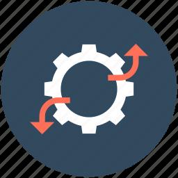 cog, cogwheel, graph, graph settings, settings icon