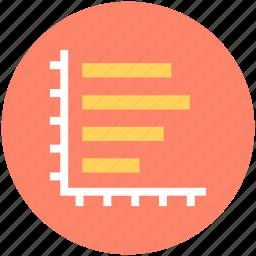 bar chart, financial chart, histogram, horizontal graph, statistics icon