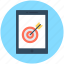 aim, mobile, mobile bullseye, mobile target, shooting icon