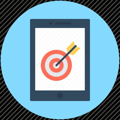 aim, mobile, mobile bullseye, mobile target, shooting icon