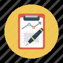 analytic, clipboard, edit, report, sheet