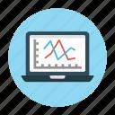 chart, graph, laptop, online, report