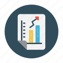 chart, document, graph, report, sheet icon