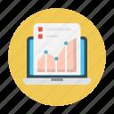 document, graph, report, screen, sheet