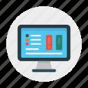 graph, online, report, screen, sheet