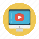 ads, online, play, screen, video icon