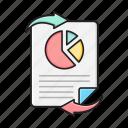 diagram, file, report, sheet, transfer