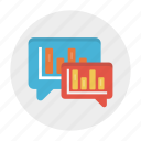 chart, chat, conversation, graph, statistics