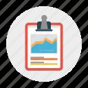 chart, clipboard, document, report, sheet