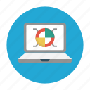 chart, graph, laptop, pie, report