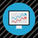 chart, growth, online, report, screen