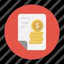 bill, document, invoice, report, sheet