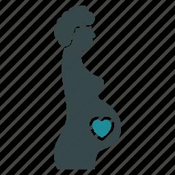 embrio, maternity, mother, pregnancy, pregnant, prenatal, woman icon