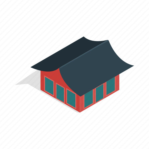 asia, building, culture, house, isometric, korean, traditional icon
