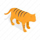 chinese, economics, isometric, korean, new, tiger, year icon