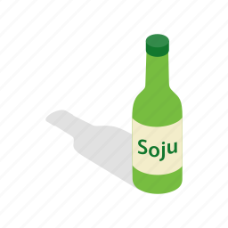 asian, bottle, cuisine, food, isometric, sauce, soy icon