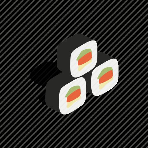 asia, food, gimbap, isometric, kimbap, korea, korean icon