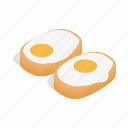 cook, eat, egg, food, isometric, korean, sauce icon