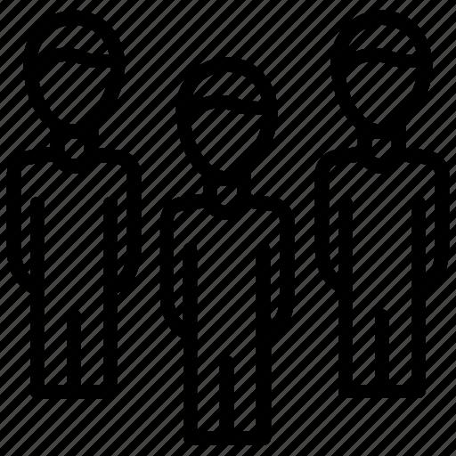 coworkers, group members, team, teamwork, work group icon
