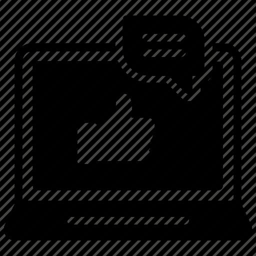 customer feedback, online feedback, online review, testimonial, user feedback icon