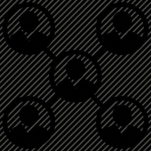 collaboration, hierarchy, organization, structure, team icon