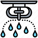 detector, fire, spraying, sprinkler, water icon
