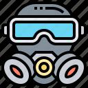 gas, mask, protector, respirator, toxic