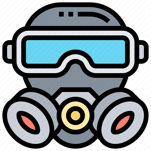 Gas, mask, protector, respirator, toxic icon - Download on Iconfinder