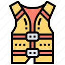 boat, jacket, life, vest, water icon