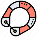 boat, float, life, lifeguard, ring icon