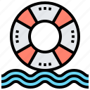 float, lifebuoy, rescue, ring, water icon