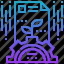 development, process, progression, system icon